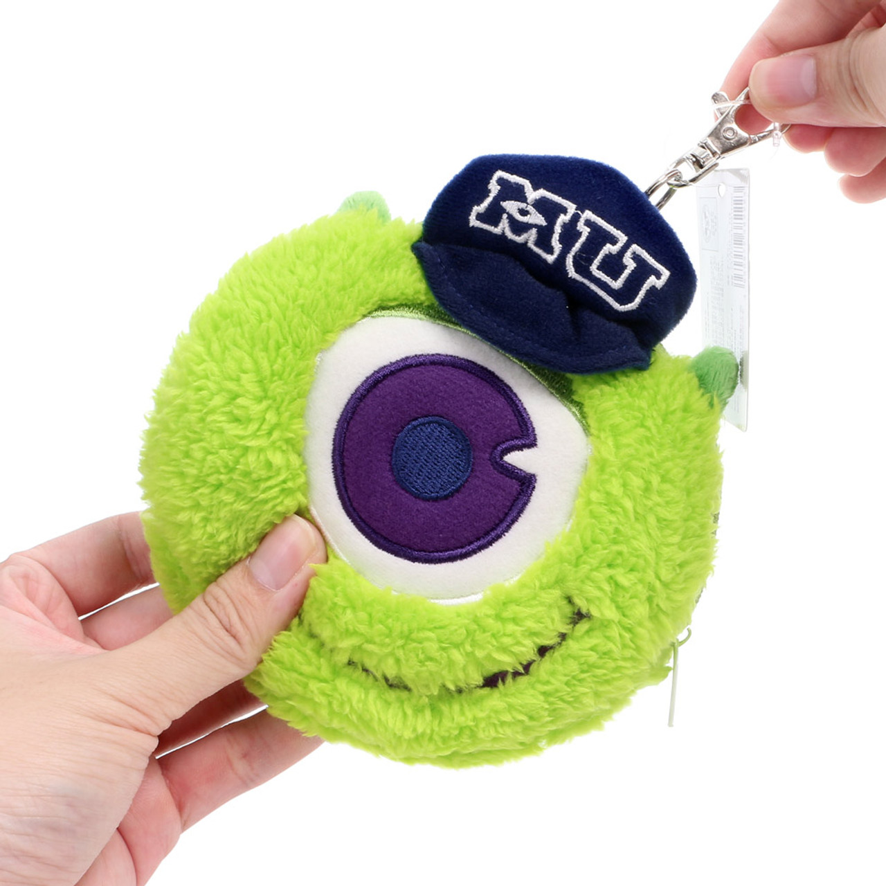 Pixar Monster University Mike Fluffy Plush Pouch ( Feature 01 )
