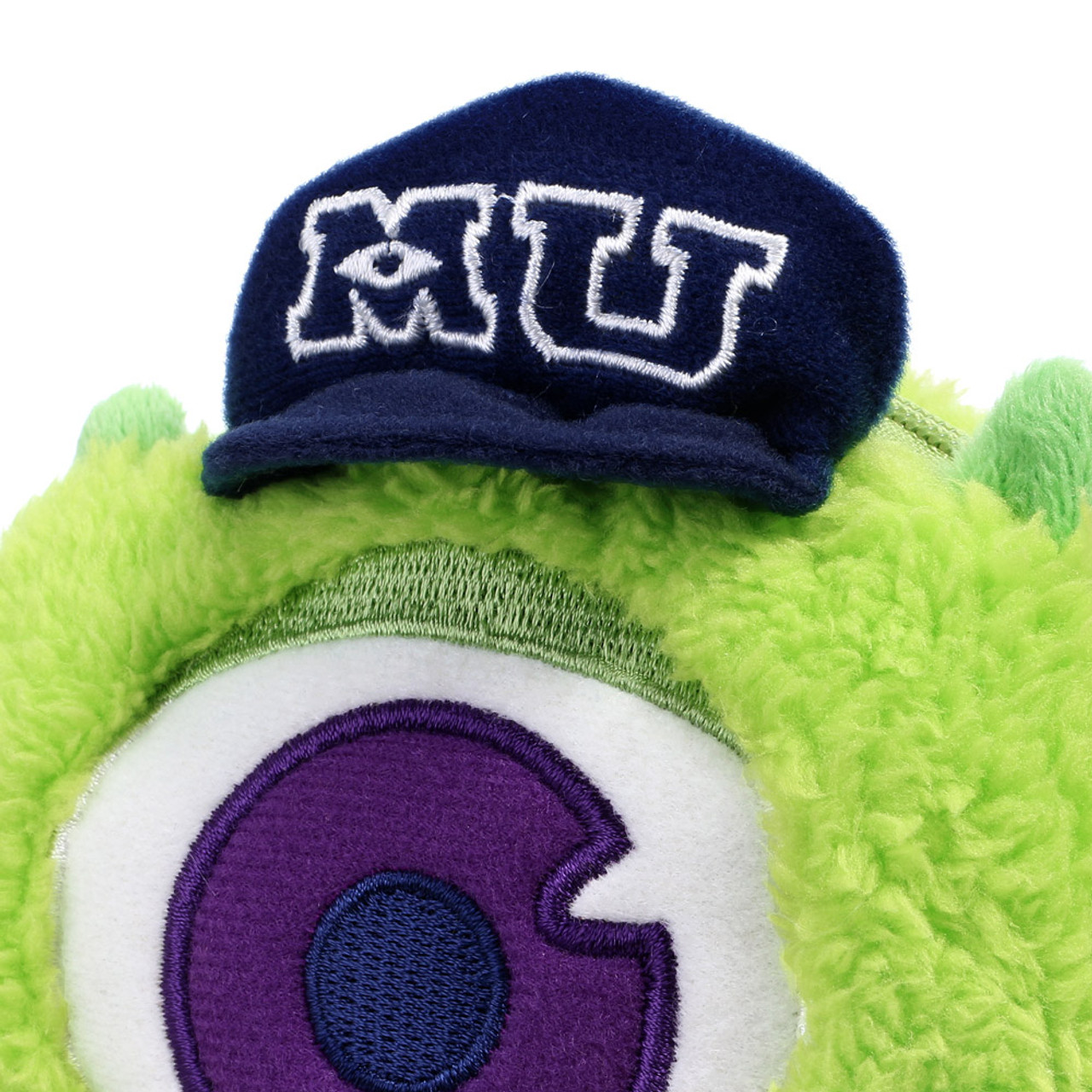 Pixar Monster University Mike Fluffy Plush Pouch ( Close-up )