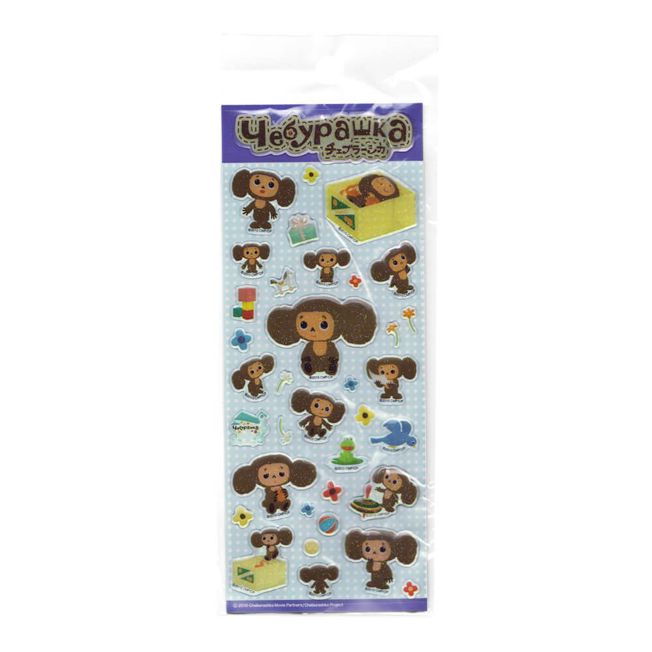 Cheburashka Yeoypawka 3D Puffy Sticker CHST04 - Daily ( Full Sticker View )