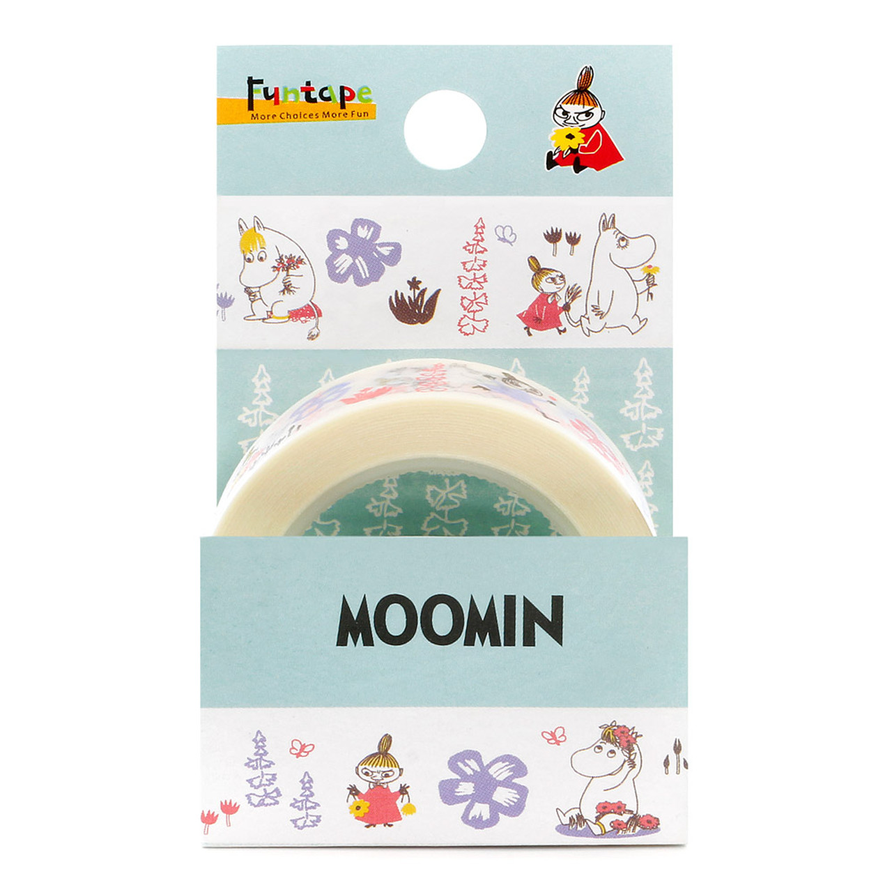 Moomin Family White Deco Tape - Garden ( Packing )