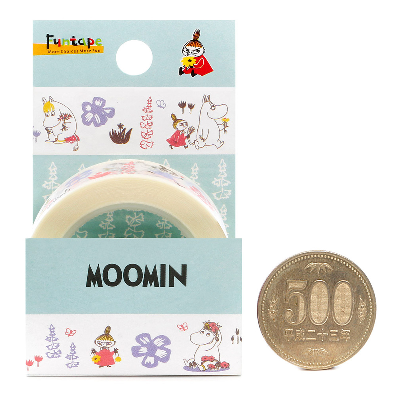 Moomin Family White Deco Tape - Garden ( Proportion )