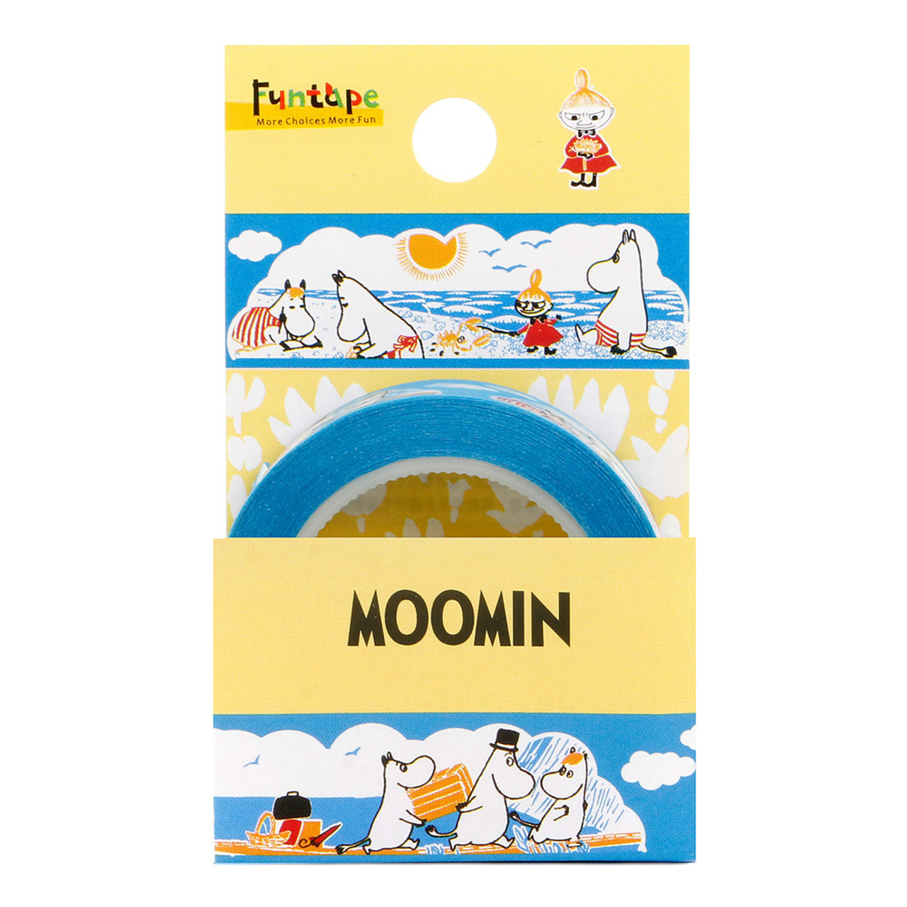 Moomin Family Blue Deco Tape - Sea ( Packing )