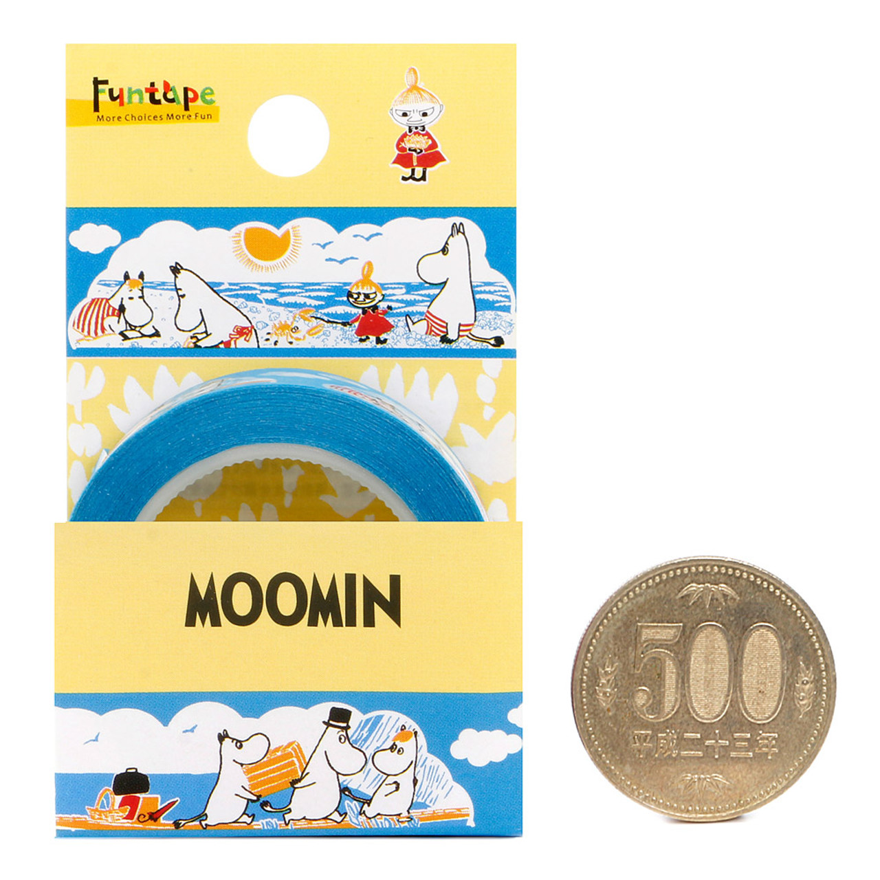 Moomin Family Blue Deco Tape - Sea ( Proportion )