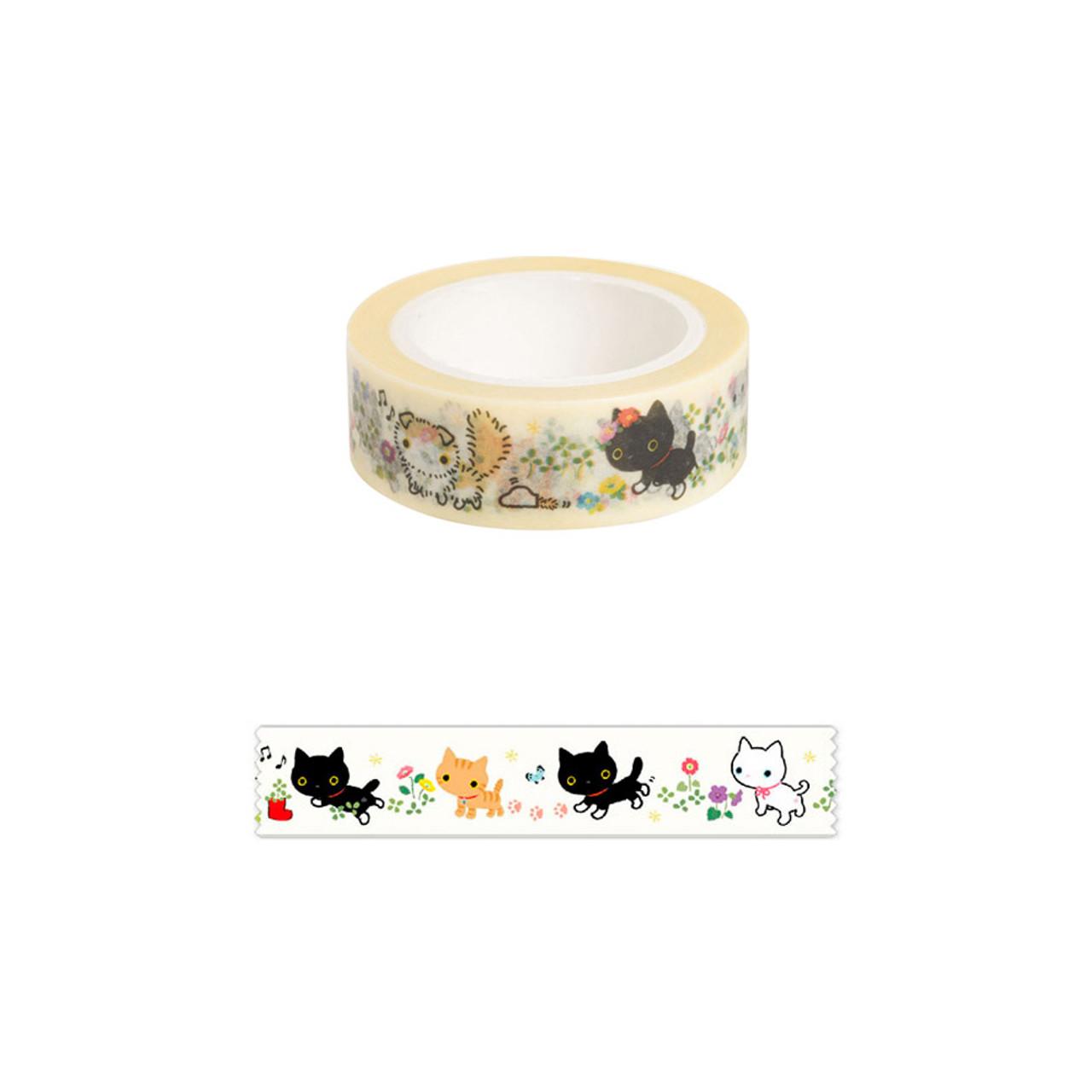 Kutusita Nyanko Deco Tape - Garden ( Pattern )