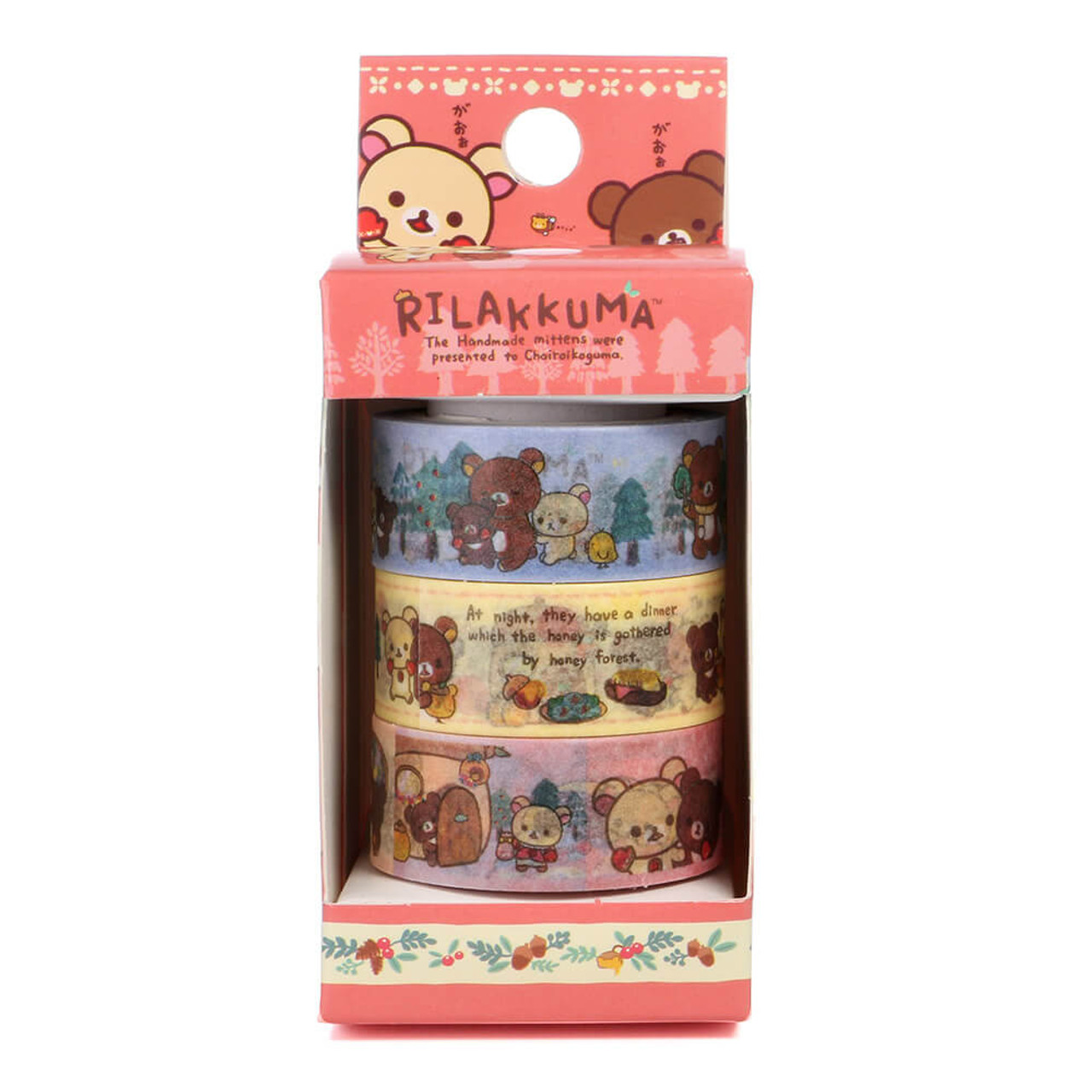Rilakkuma Handmade Mittens Washi Tape - SE30801 ( Packing 01 )