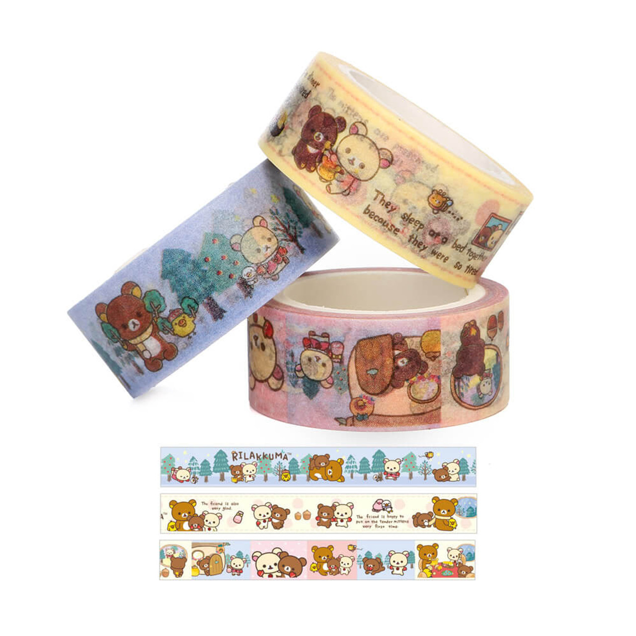 Rilakkuma Handmade Mittens Washi Tape - SE30801 ( Tapes )