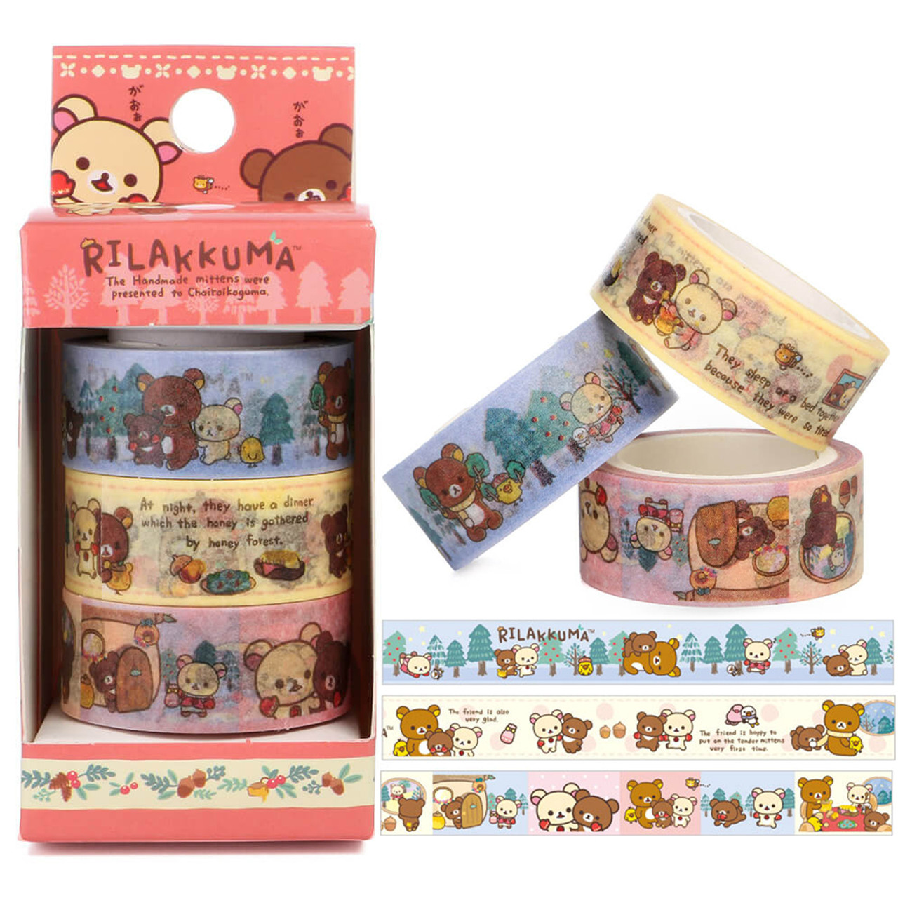 Rilakkuma Handmade Mittens Washi Tape - SE30801 ( Cover View )