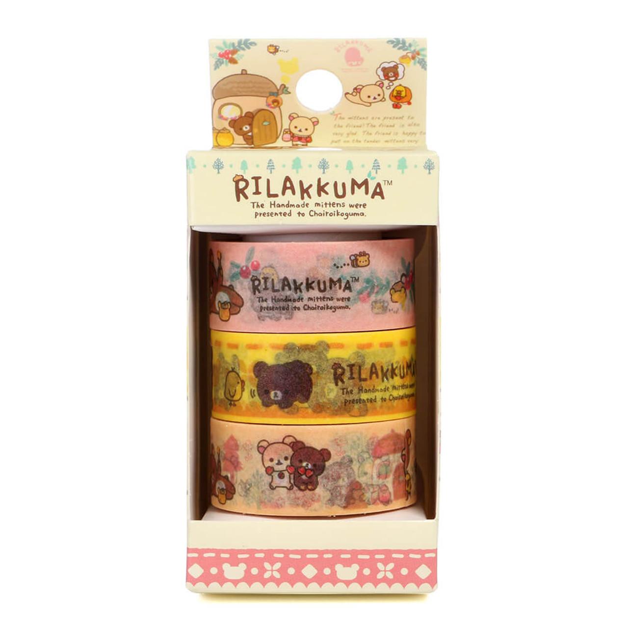 Rilakkuma Handmade Mittens Washi Tape - SE30802 ( Packing 01 )