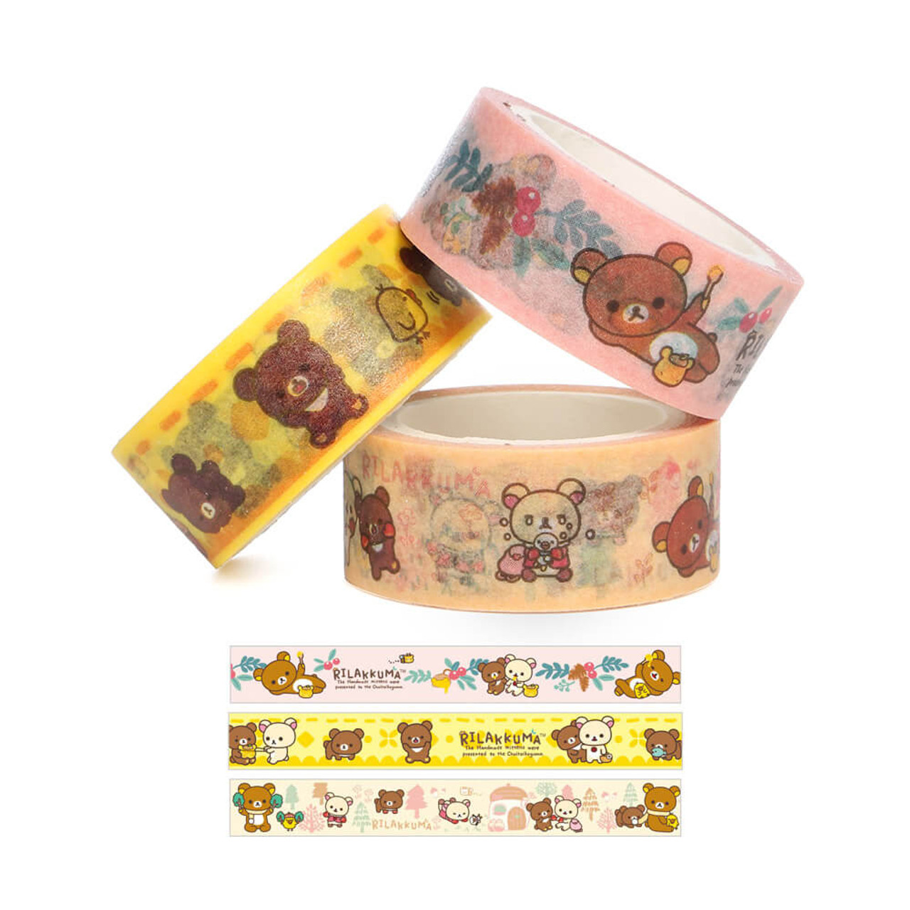Rilakkuma Handmade Mittens Washi Tape - SE30802 ( Tapes )