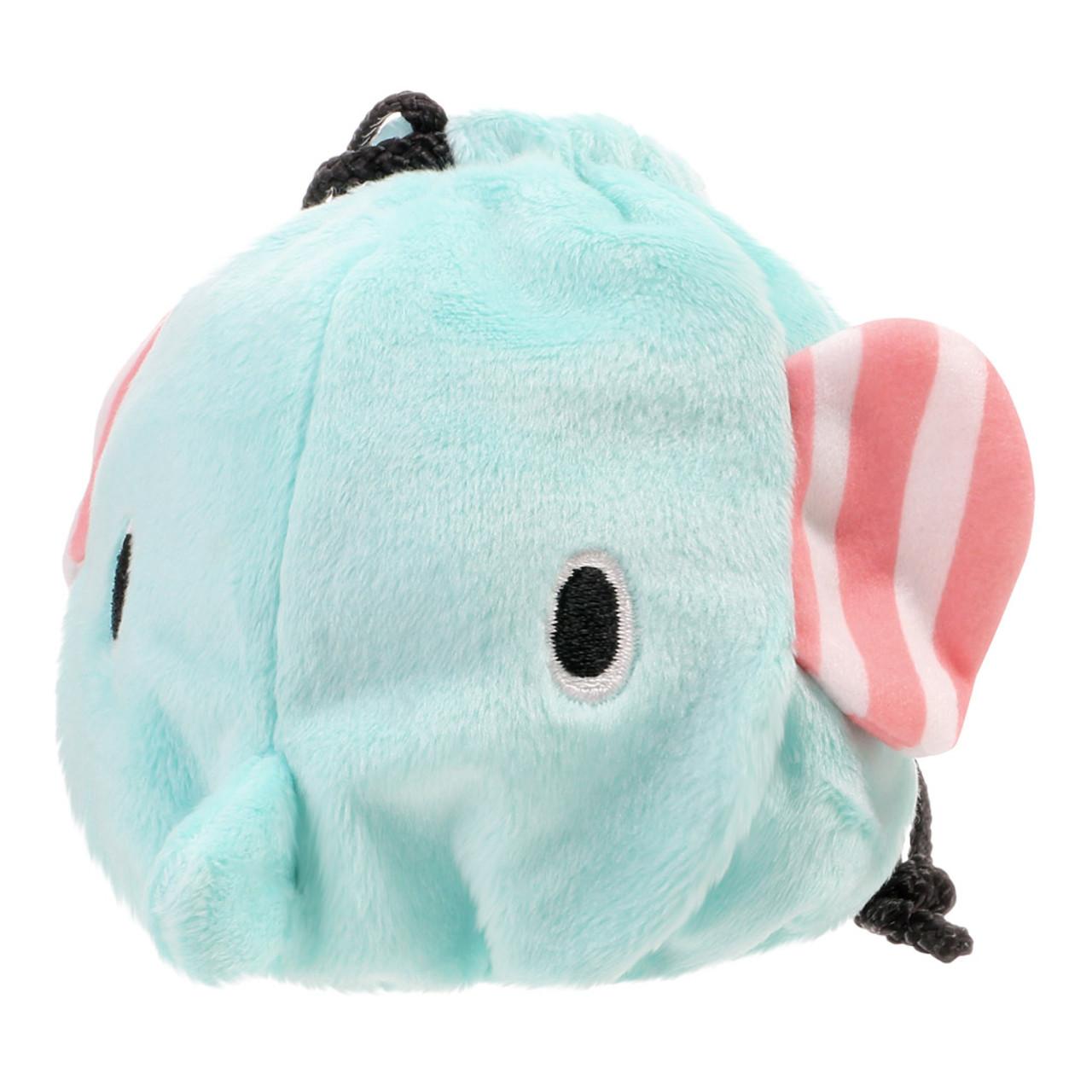 Sentimental Circus Mouton Elephant Face Plush Drawstring Bag ( Front View )