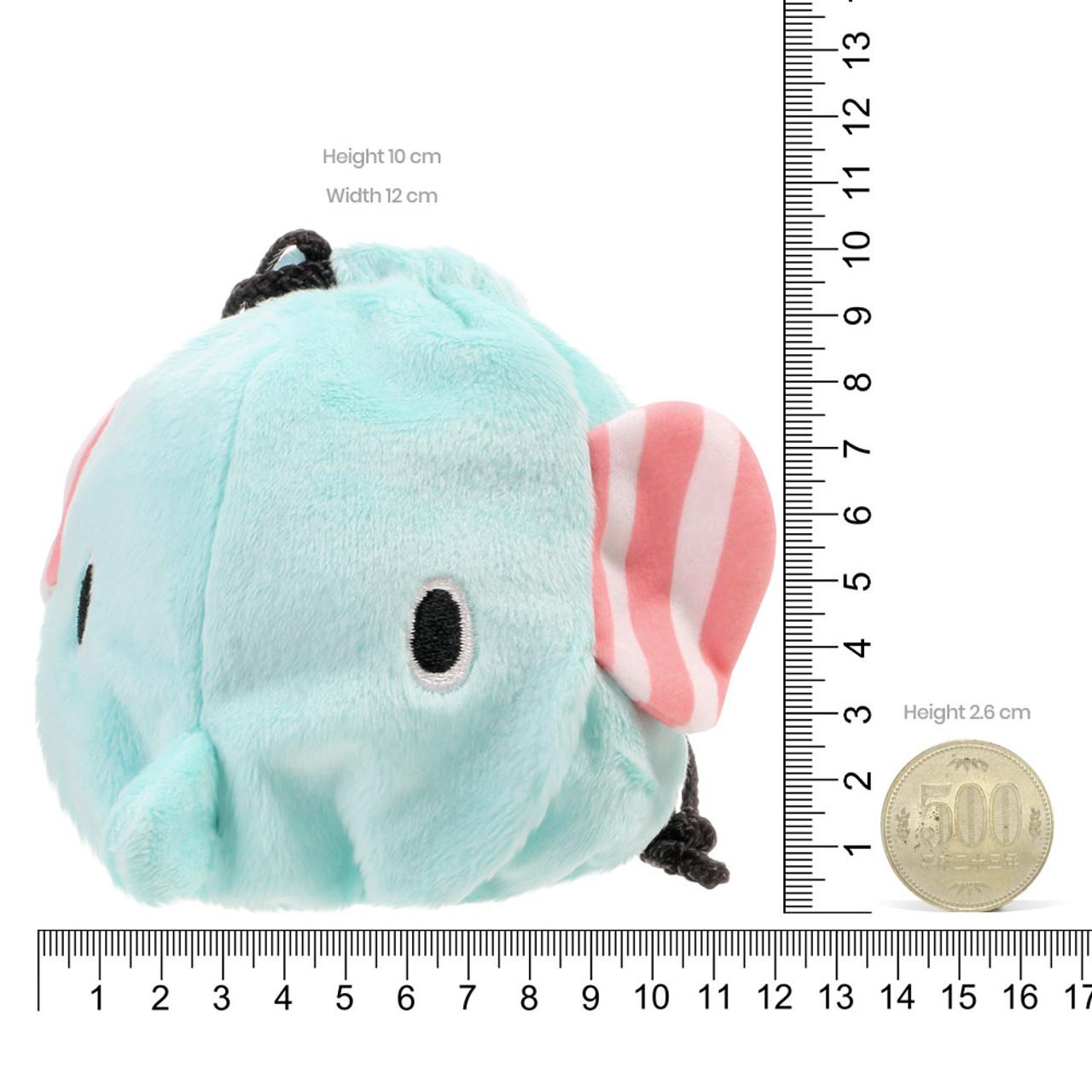 Sentimental Circus Mouton Elephant Face Plush Drawstring Bag ( Proportion )