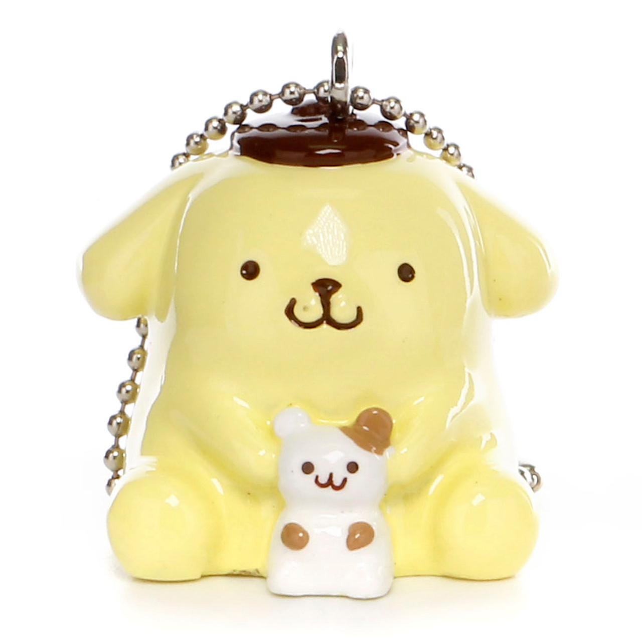 Pom Pom Purin Vinyl Mascot Charms - Hamster ( Front View )