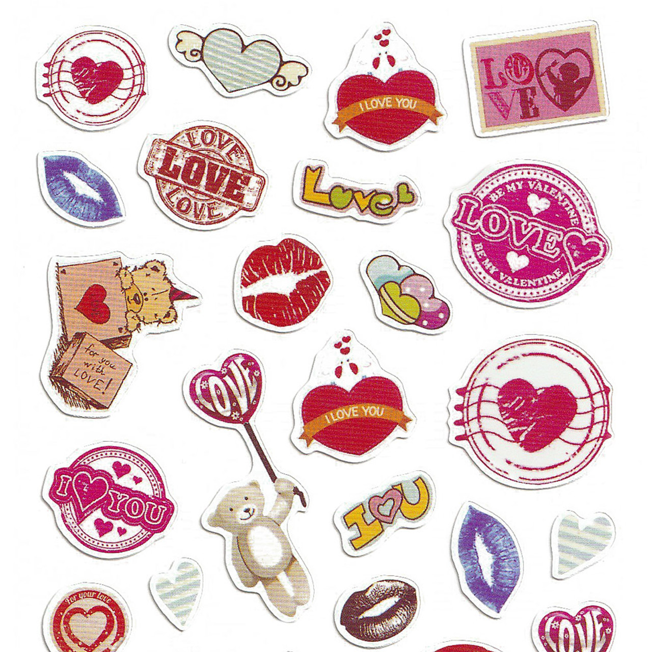 Adorable Four Style Sticker Pack ( Lovers Top )