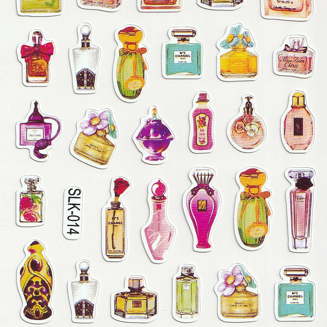 Adorable Four Style Sticker Pack ( Perfume Bottles Bottom )