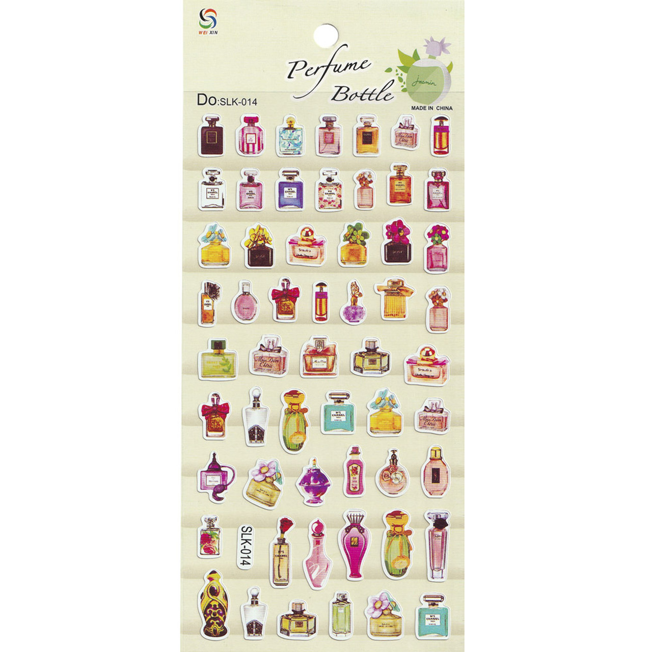 Adorable Four Style Sticker Pack ( Perfume Bottles )