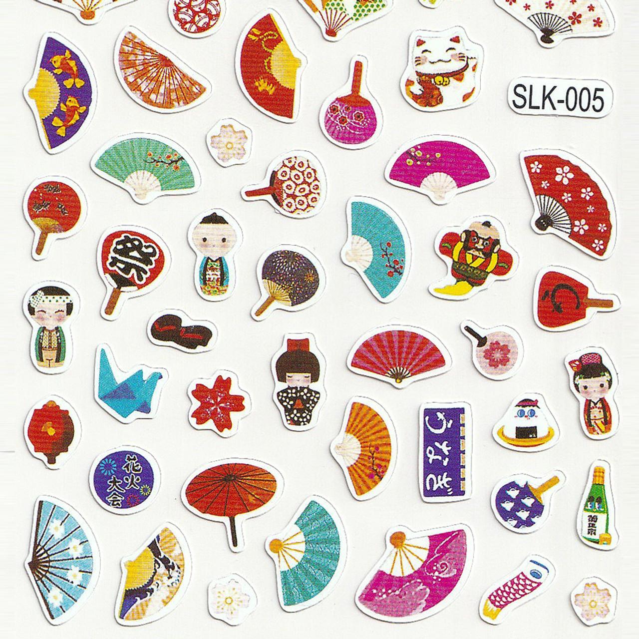 Adorable Four Style Sticker Pack ( Japanese Sensu / Fans Bottom )