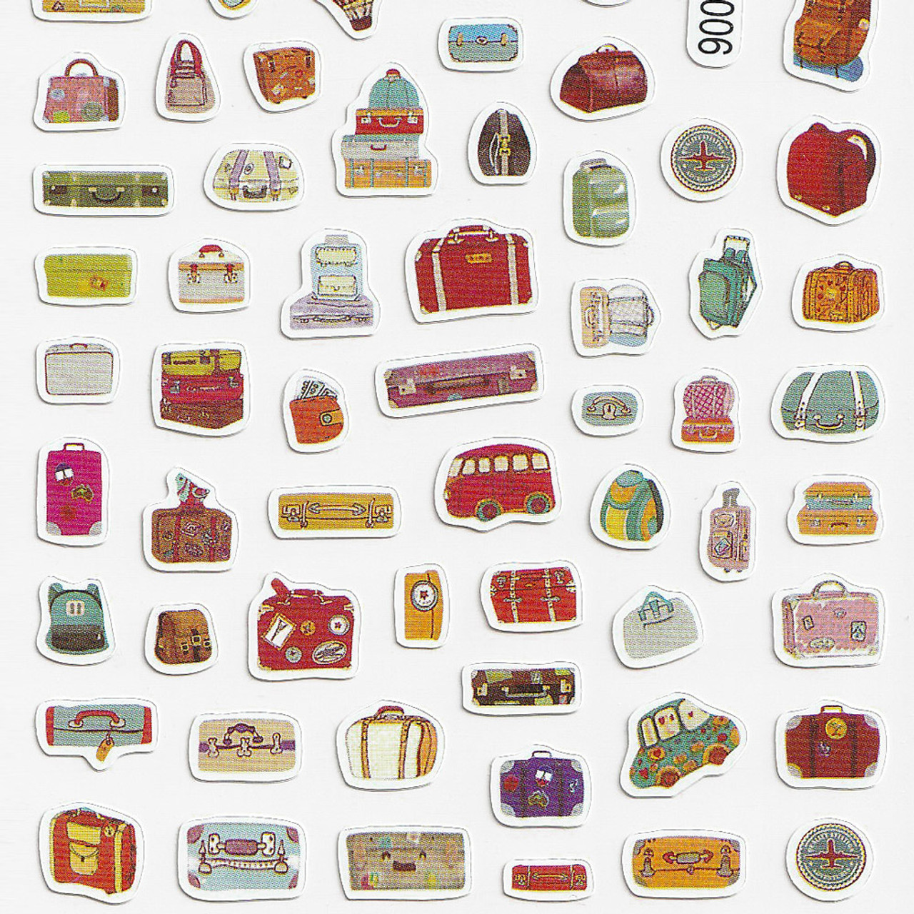 Adorable Four Style Sticker Pack ( Travel Bags Bottom)