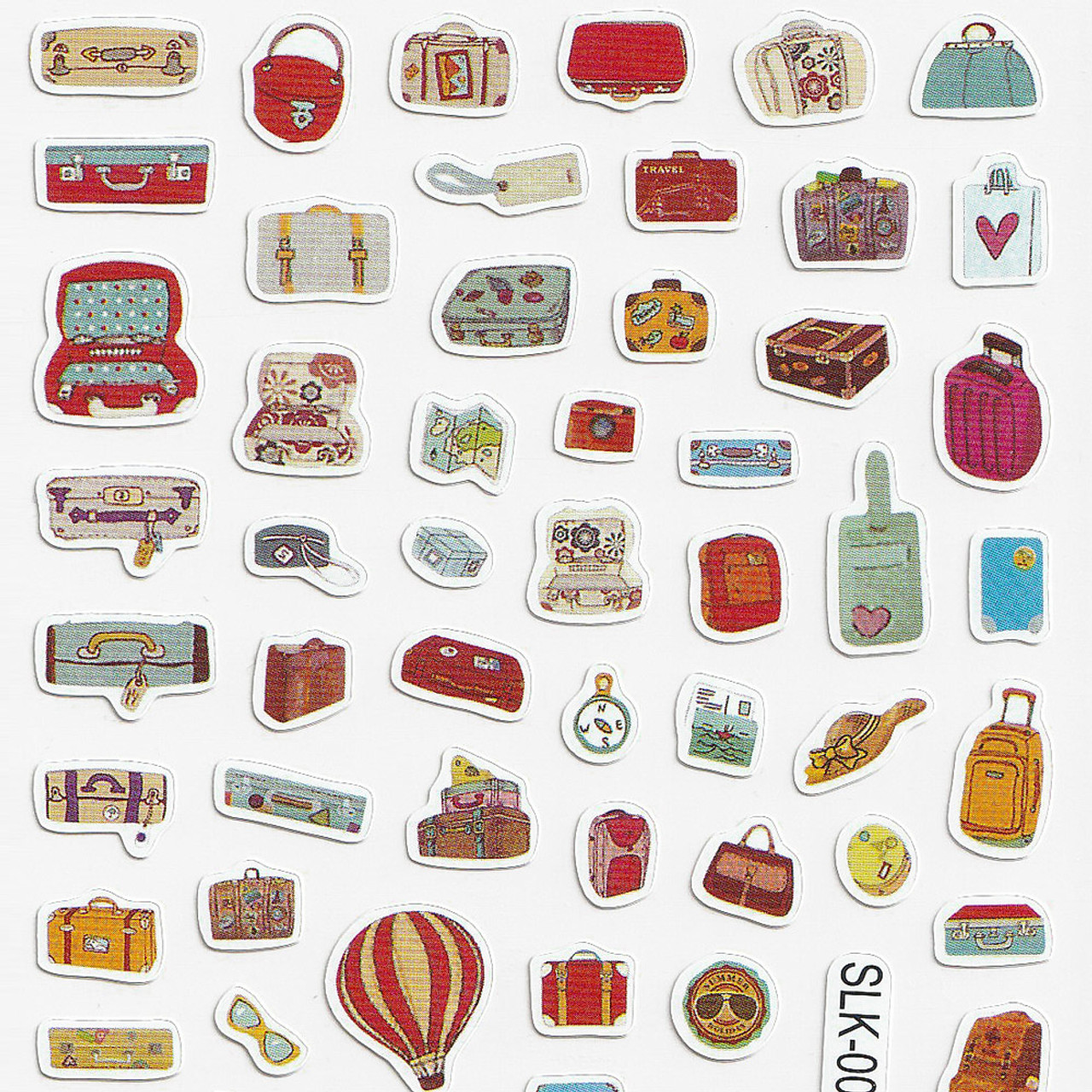 Adorable Four Style Sticker Pack ( Travel Bags Top )
