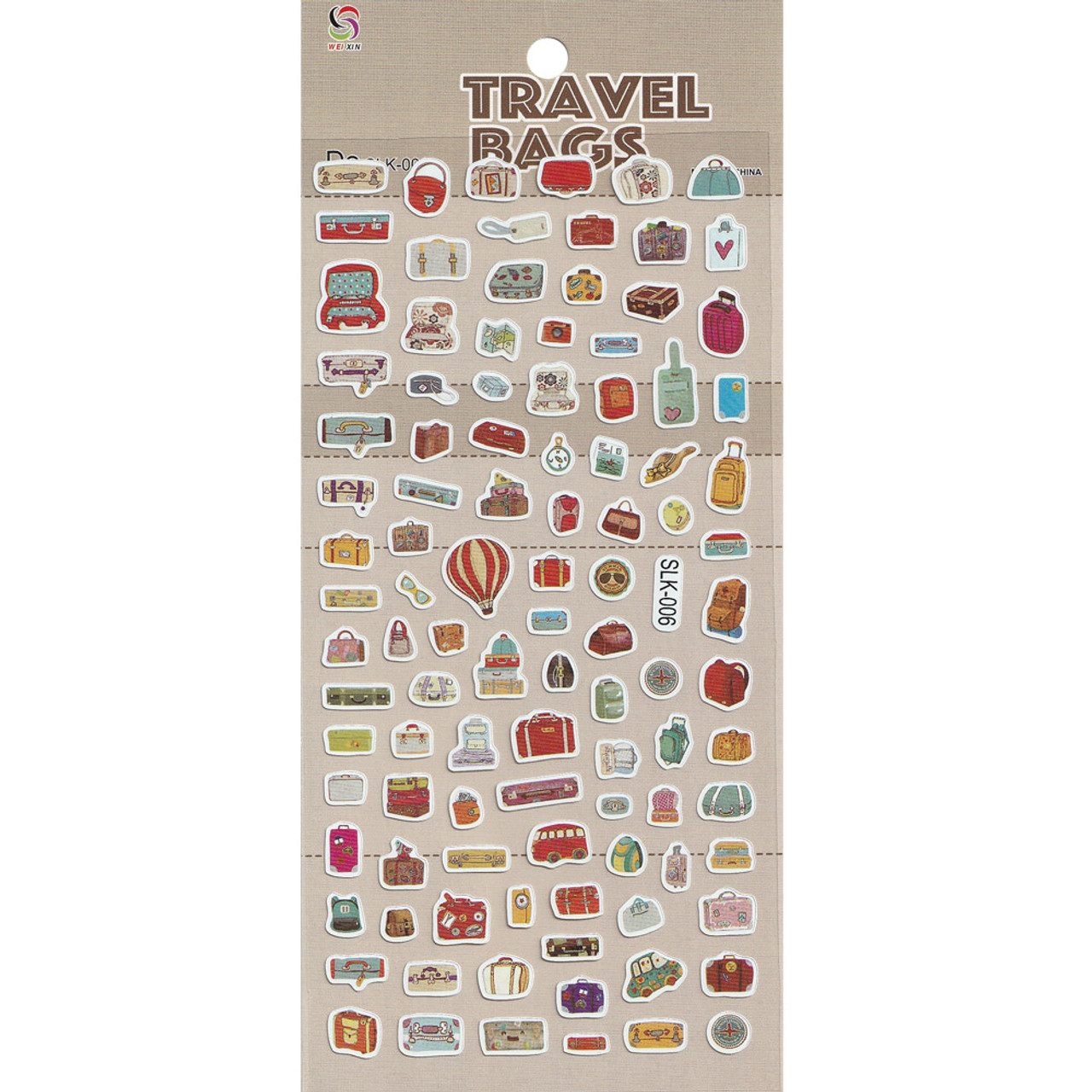 Adorable Four Style Sticker Pack ( Travel Bags )