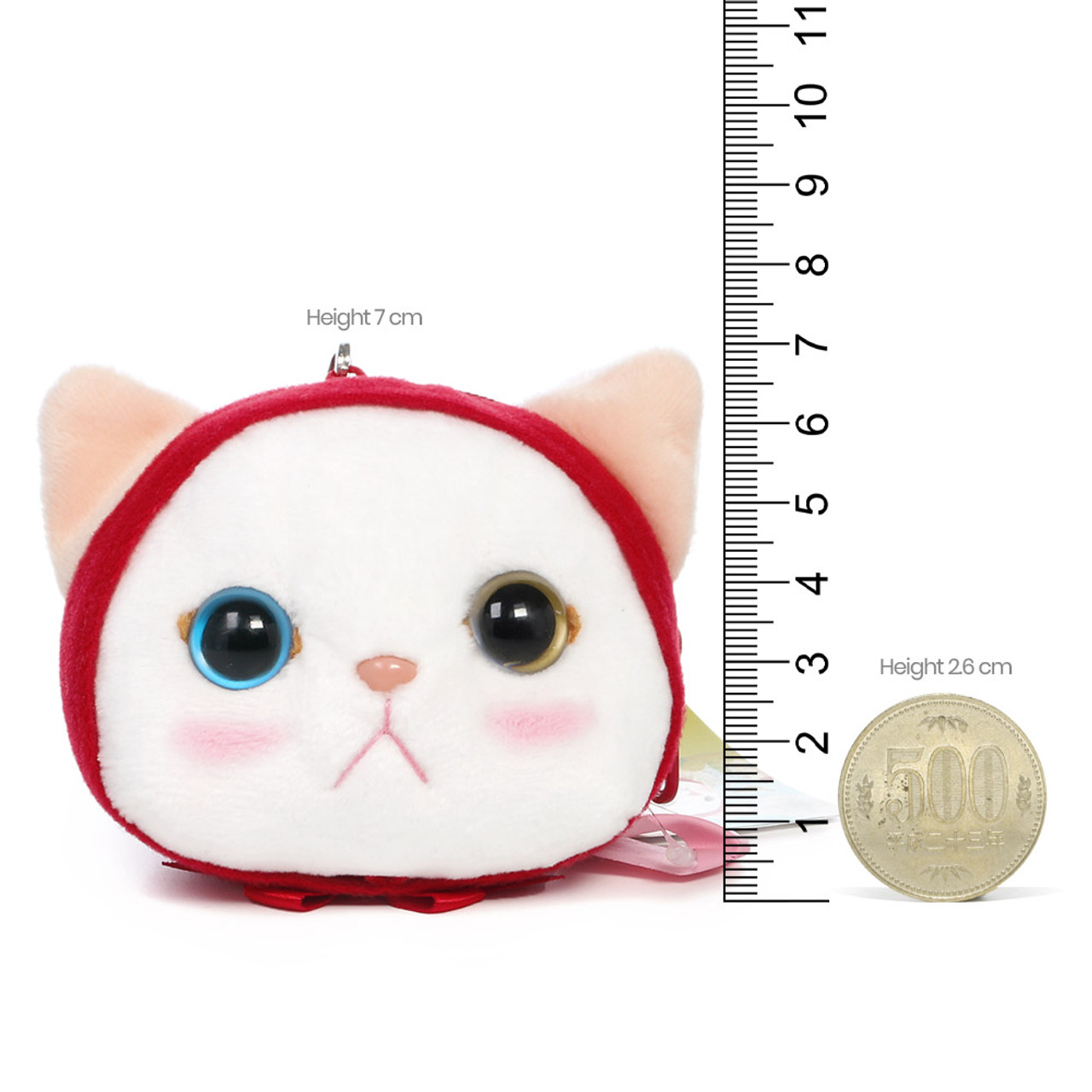 Choo Choo Cat Mini Coin Pouch - Little Red Riding Hood ( Proportion )