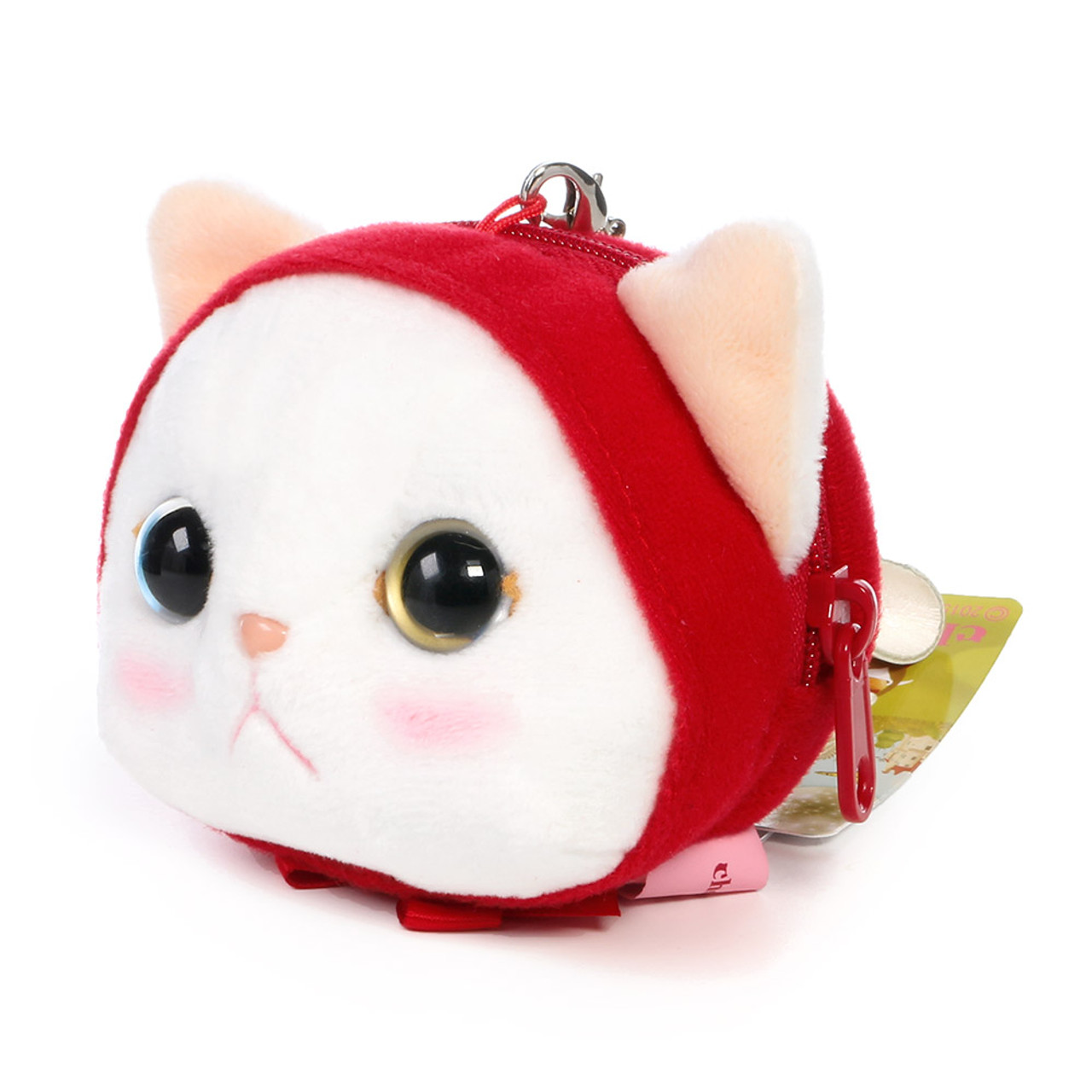 Choo Choo Cat Mini Coin Pouch - Little Red Riding Hood ( Side View )