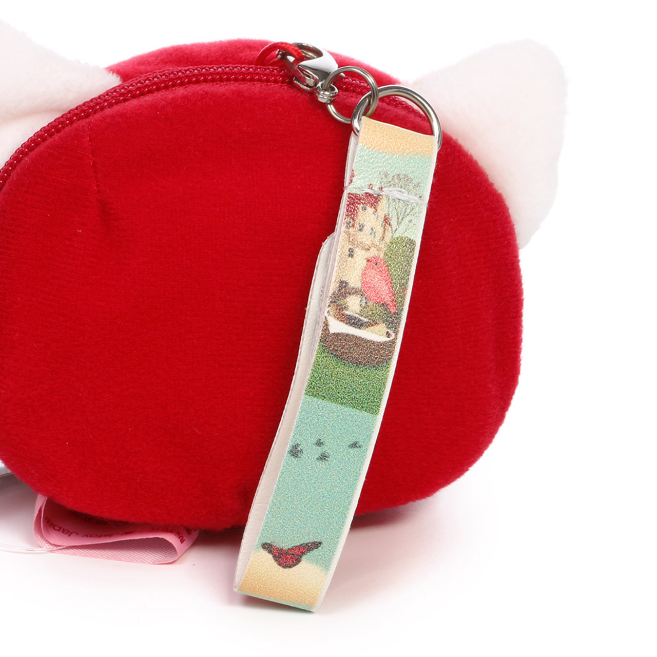 Choo Choo Cat Mini Coin Pouch - Little Red Riding Hood ( Synthetic Leather Hand Strap )