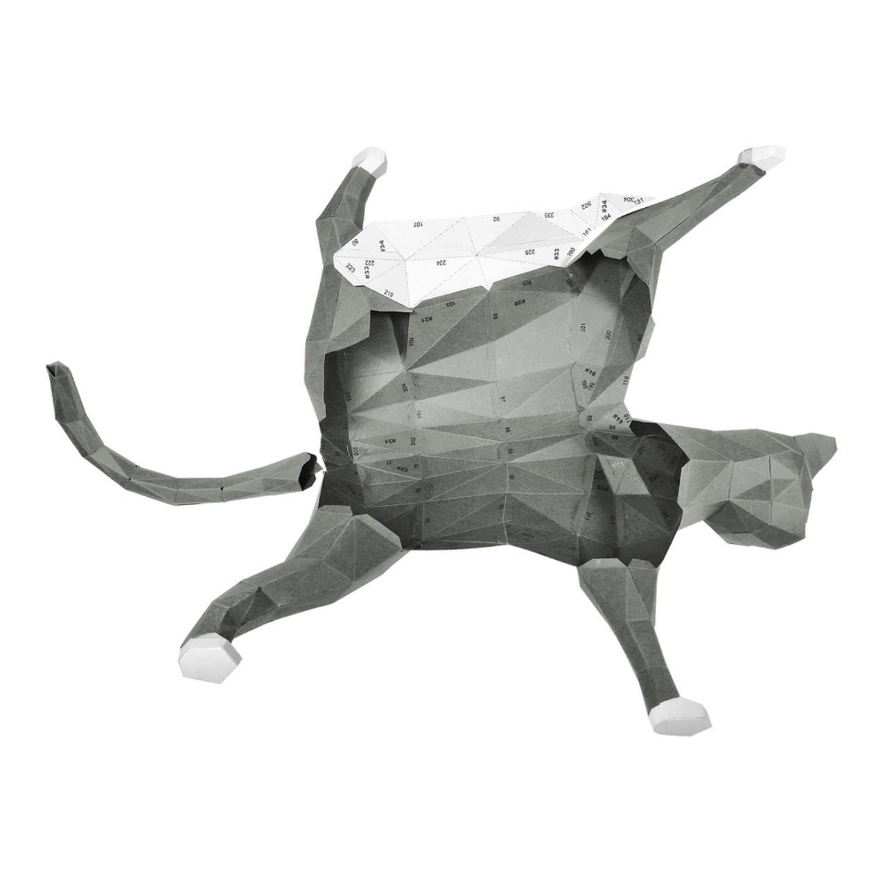 DIY Paper Art Craft Neko Cat Polygon Model ( Group Parts )