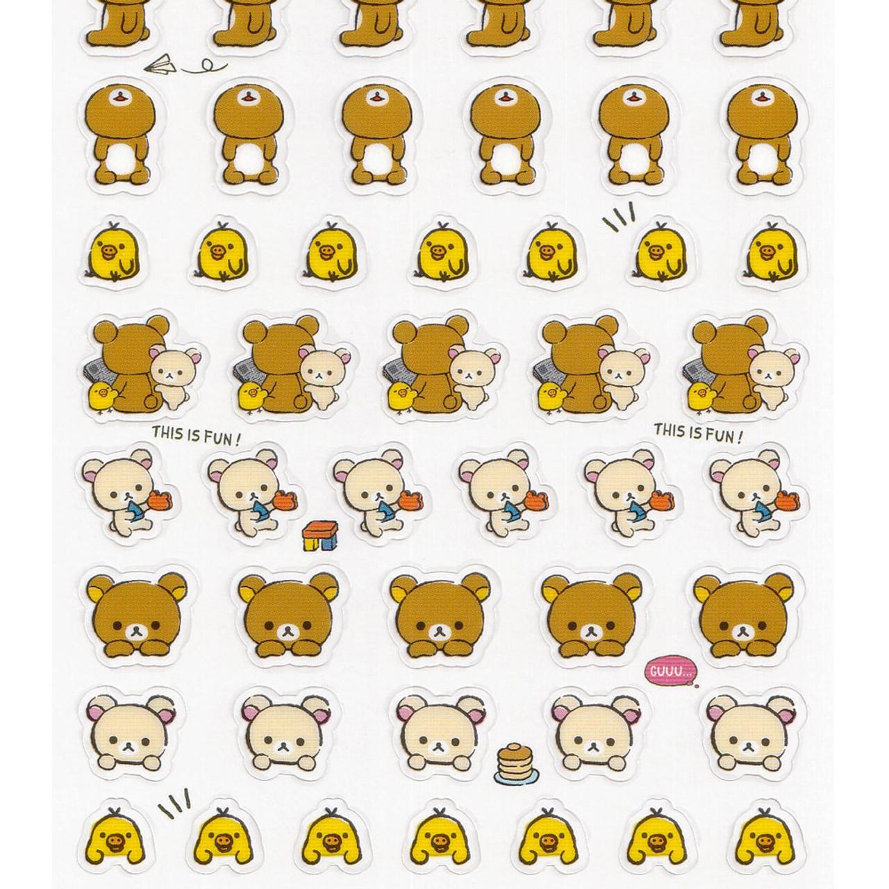 Rilakkuma Bear Staring Contest Sticker SE39103 ( Bottom Part Of View )