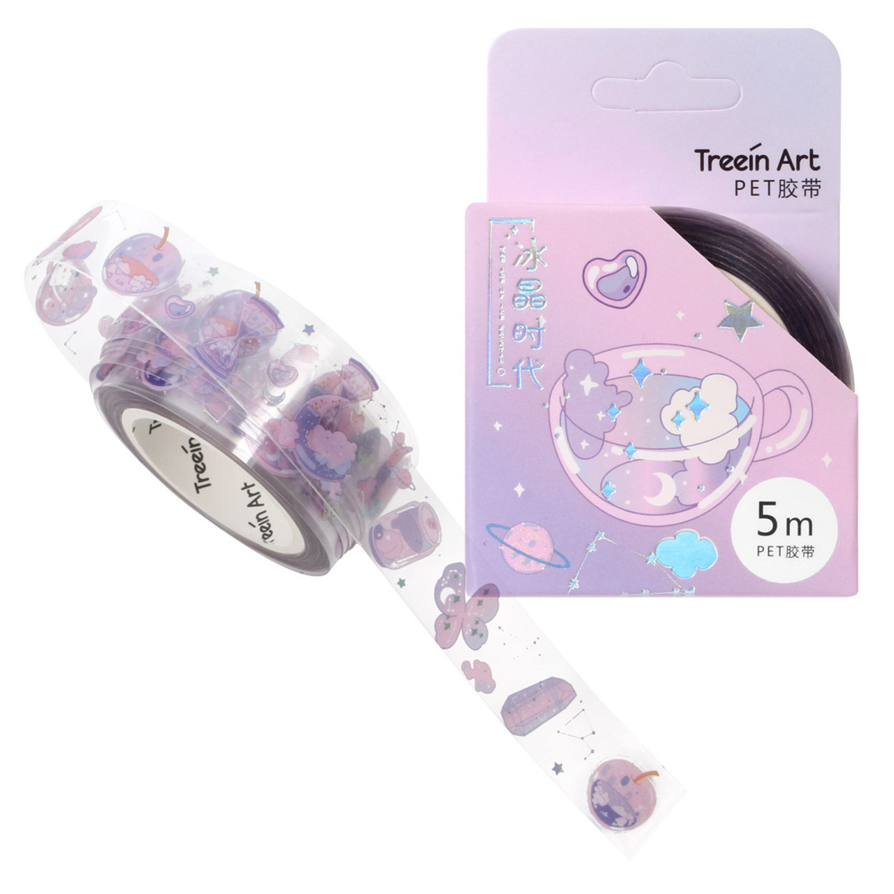 Crystals Age PET Masking Tape - Tea ( Cover )
