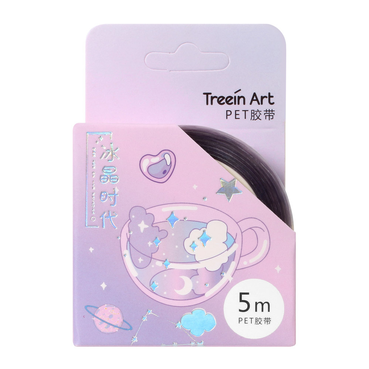 Crystals Age PET Masking Tape - Tea ( Front View )