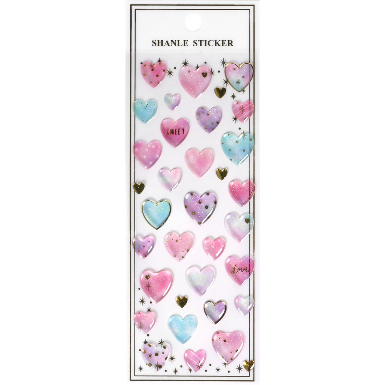 Shiny Crystal Sticker WV01 ( Pure Heart ) ( Front View )