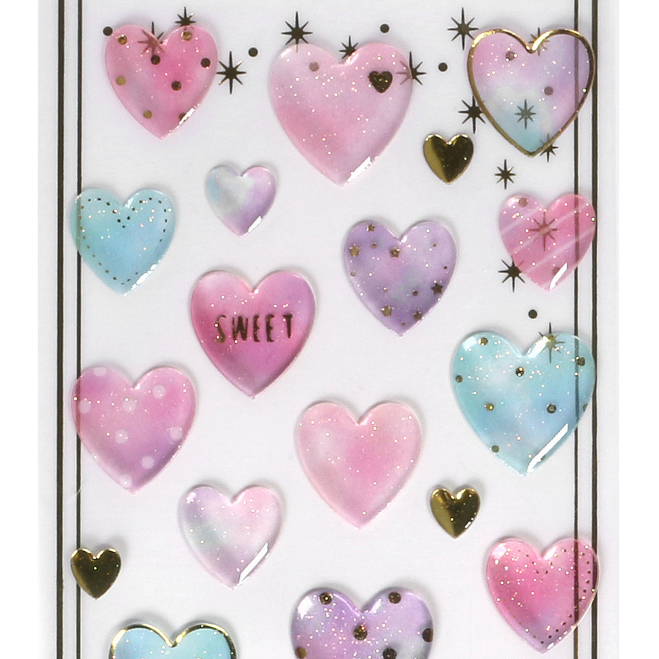Shiny Crystal Sticker WV01 ( Pure Heart ) ( Top Part )