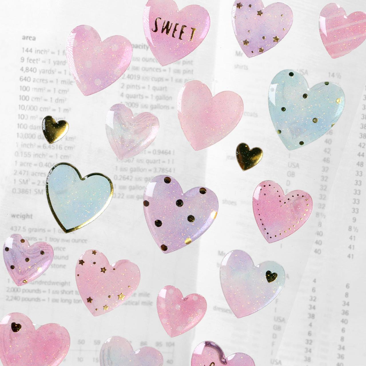 Shiny Crystal Sticker WV01 ( Pure Heart ) ( Close-up )
