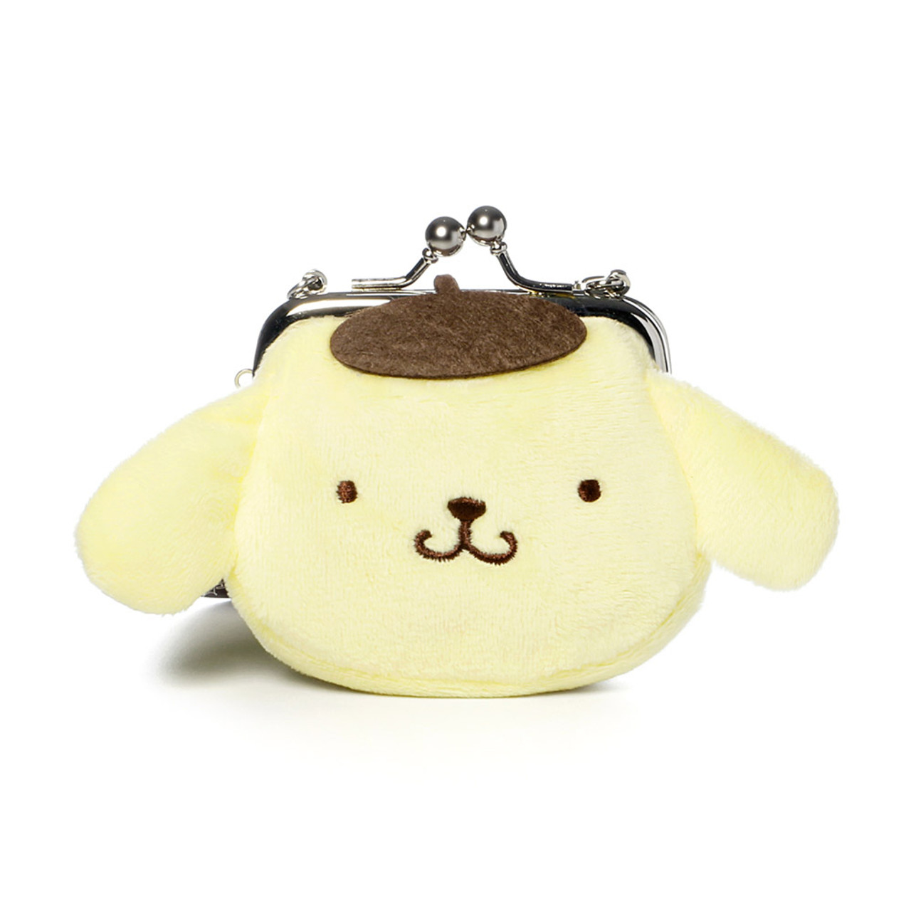 Pompompurin Mini Ball Clasp Plush Coin Wallet ( Front View )