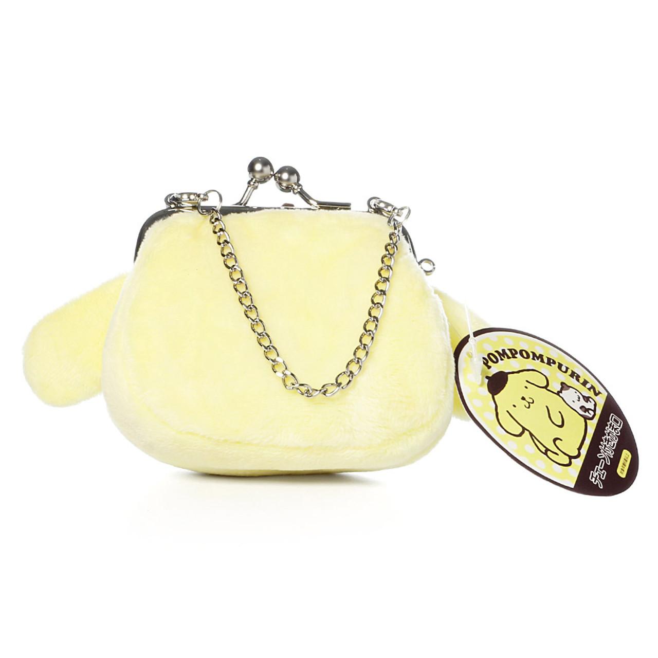 Pompompurin Mini Ball Clasp Plush Coin Wallet ( Back View )