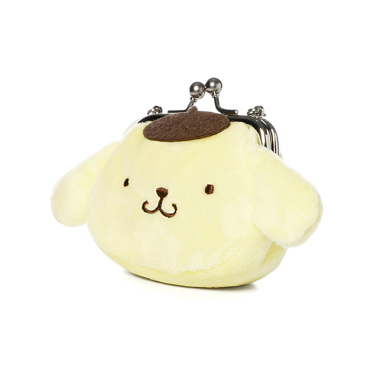 Pompompurin Mini Ball Clasp Plush Coin Wallet ( Side View )