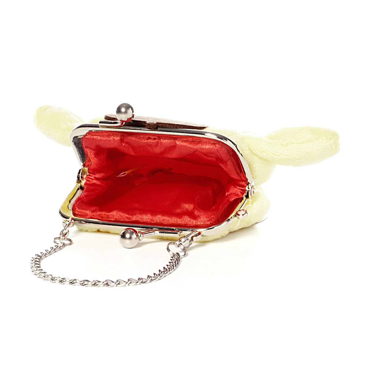 Pompompurin Mini Ball Clasp Plush Coin Wallet ( Inner View )