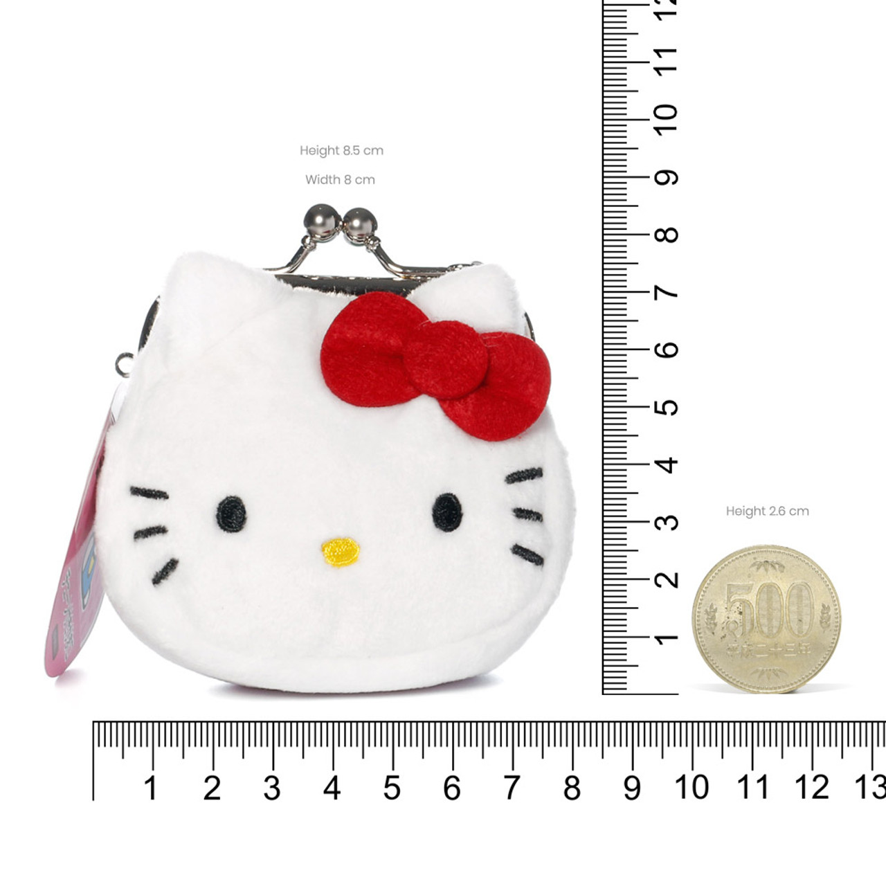 Hello Kitty Mini Ball Clasp Coins Wallet ( Proportion )