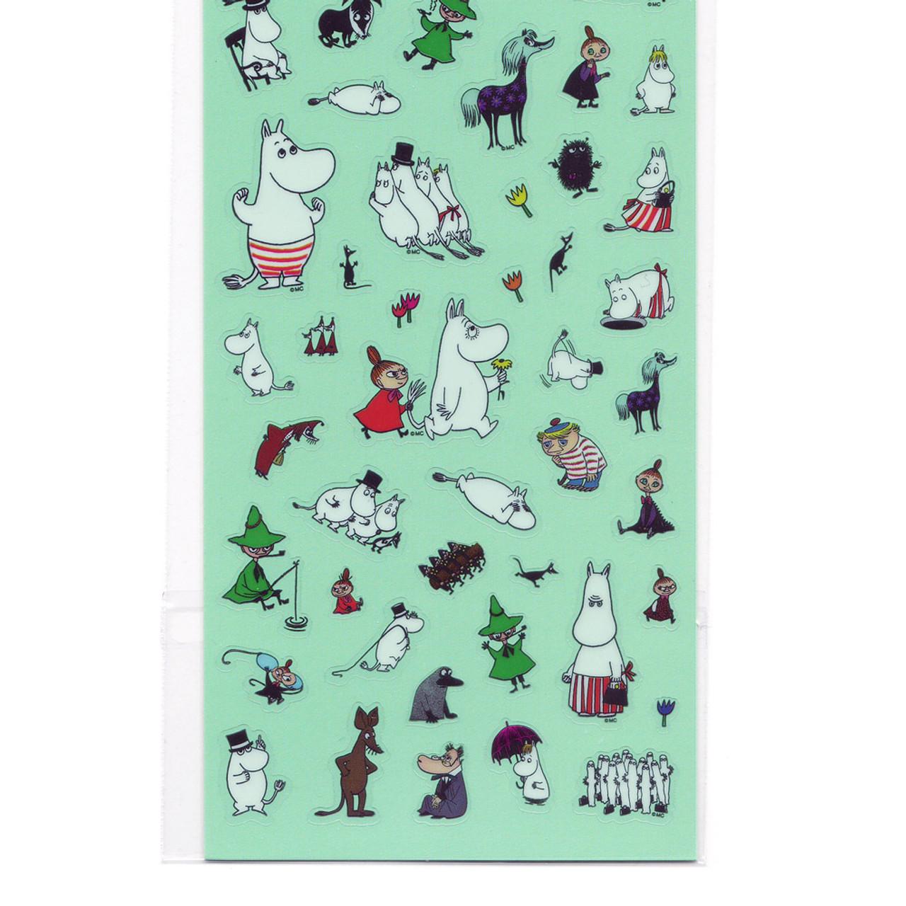 Moomin Valley Schedule Clear Sticker - MMST655 ( Bottom Part )