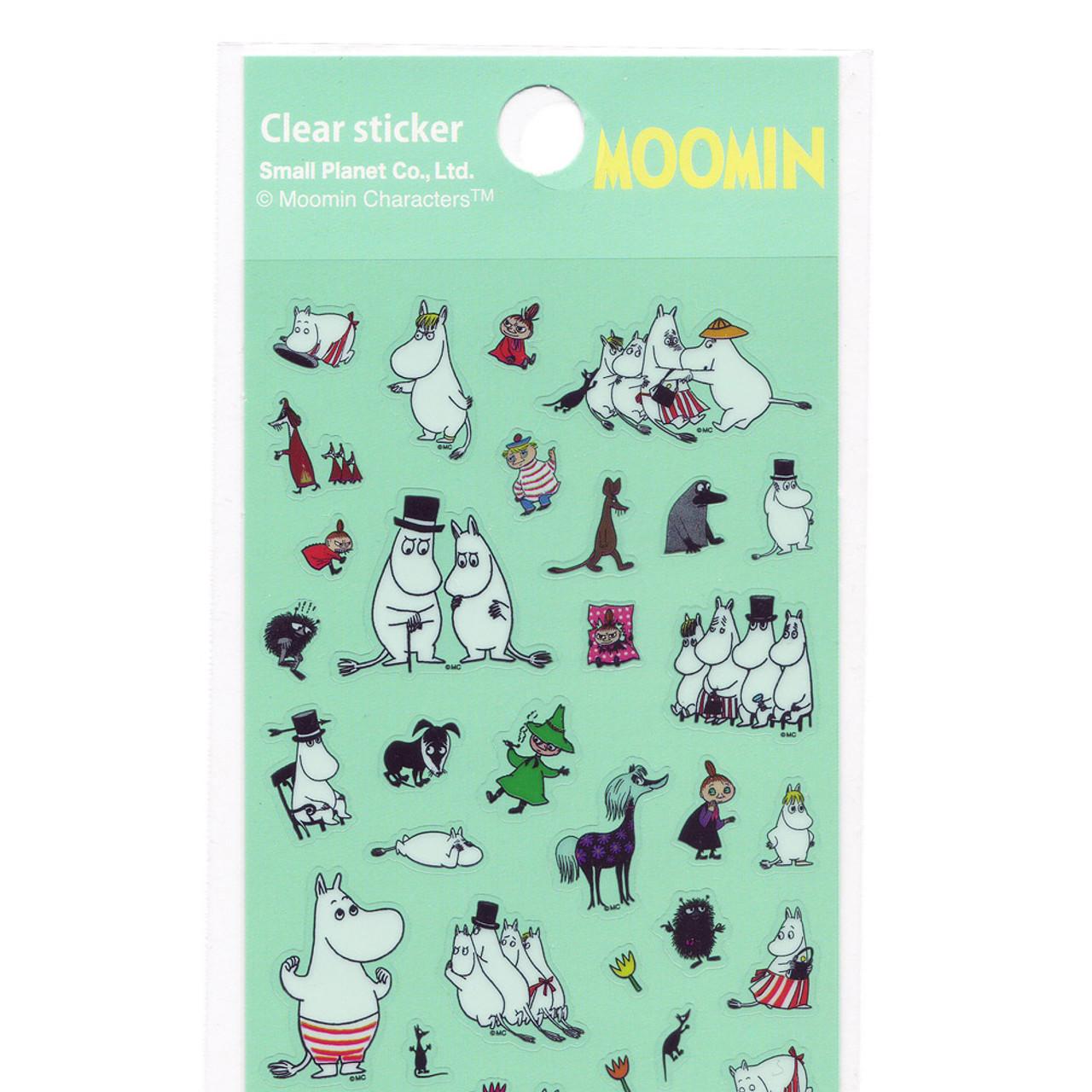 Moomin Valley Schedule Clear Sticker - MMST655 ( Top Part )