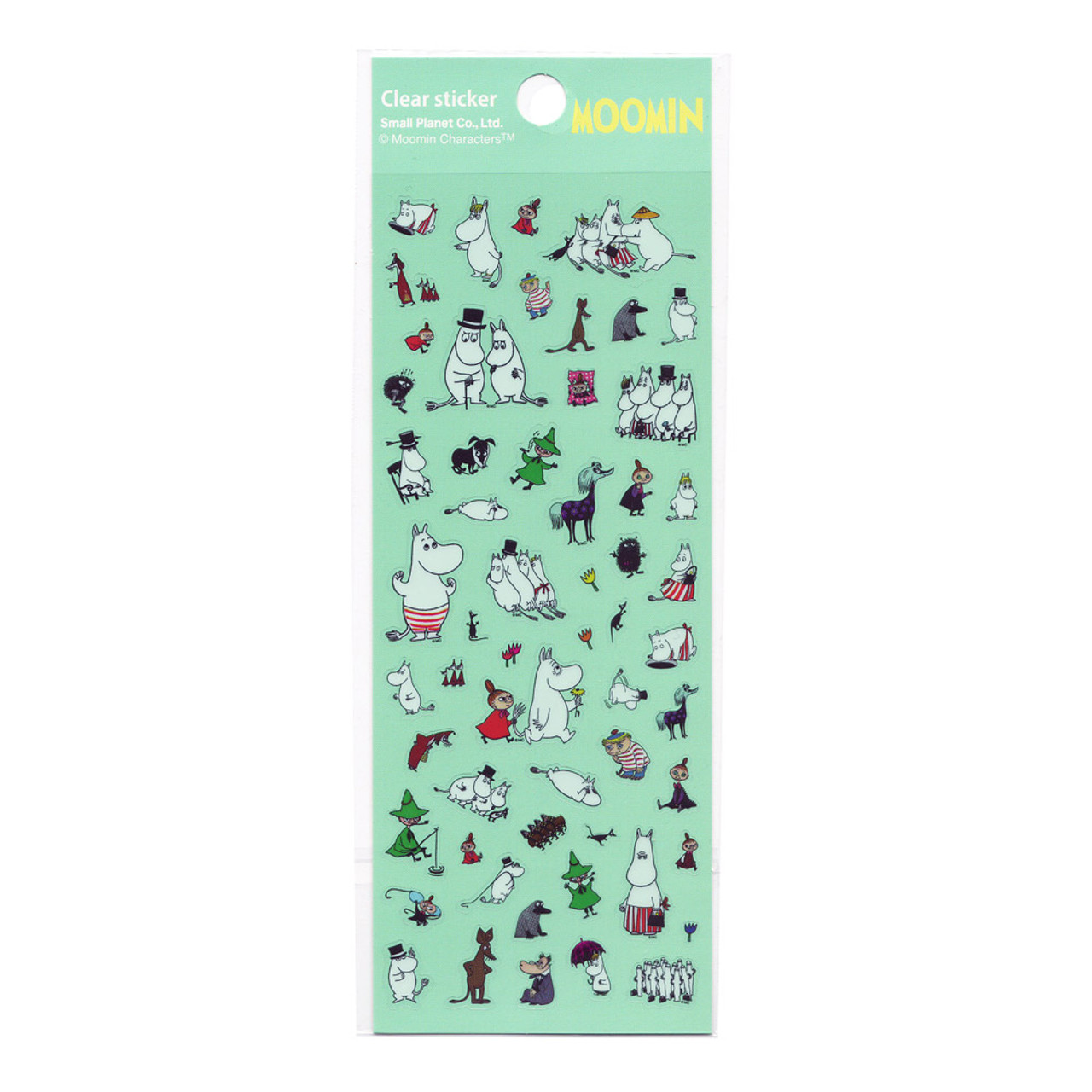 Moomin Valley Schedule Clear Sticker - MMST655 ( Front View )