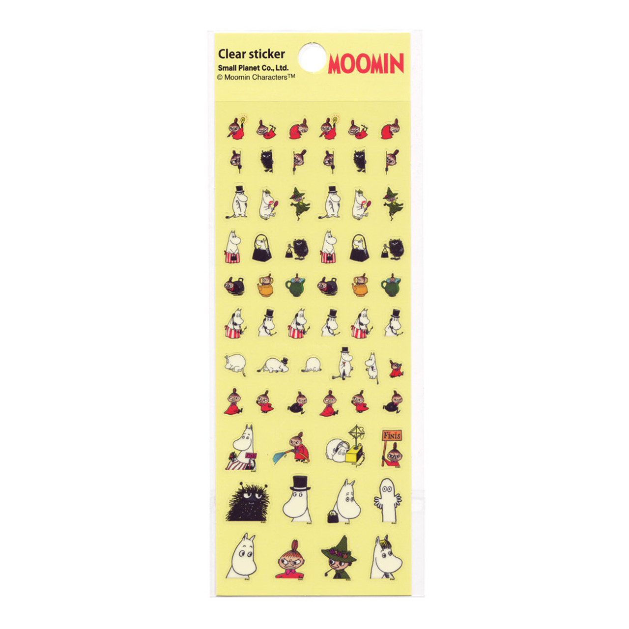 Moomin Valley Schedule Clear Sticker - MMST654 ( Front View )