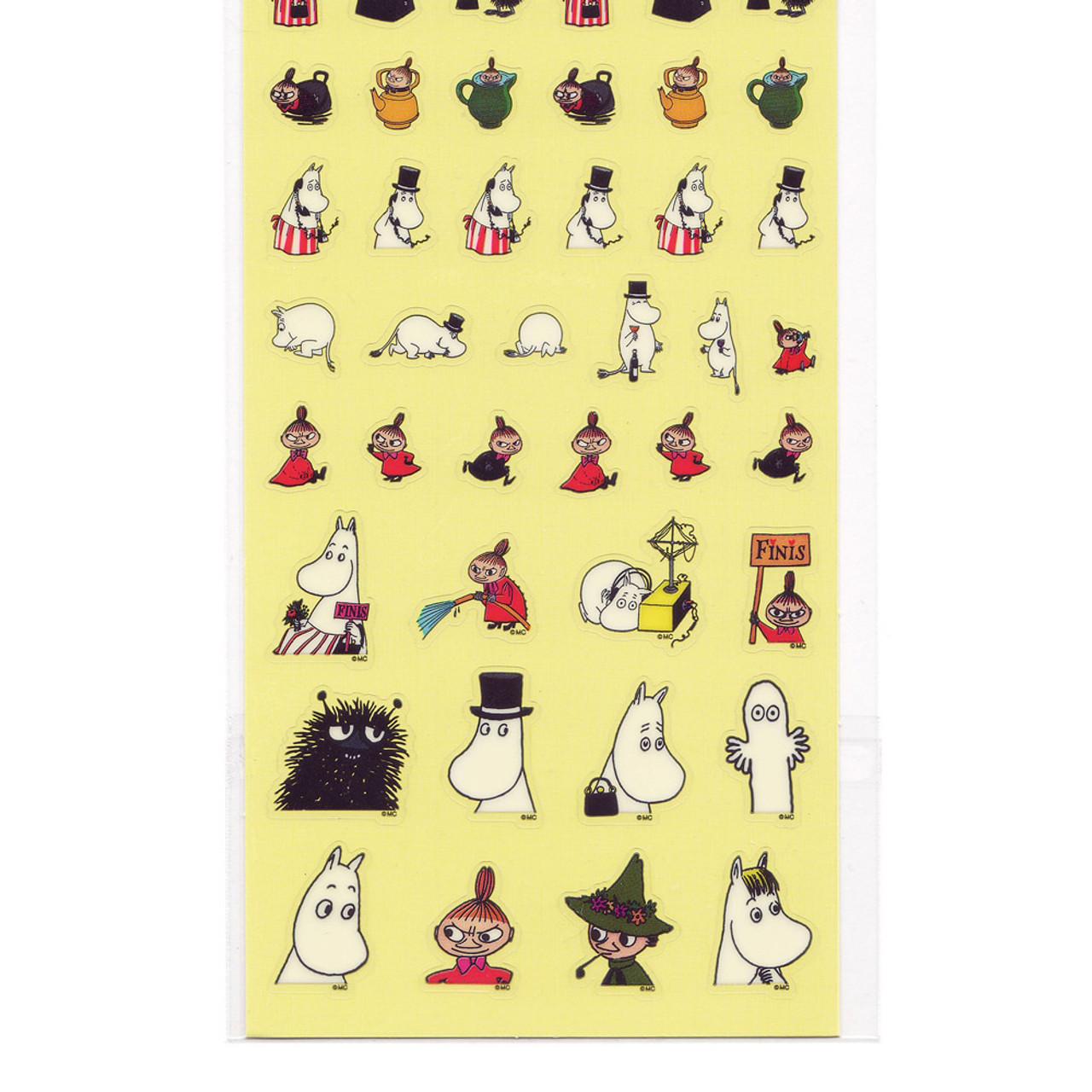 Moomin Valley Schedule Clear Sticker - MMST654 ( Bottom Part )