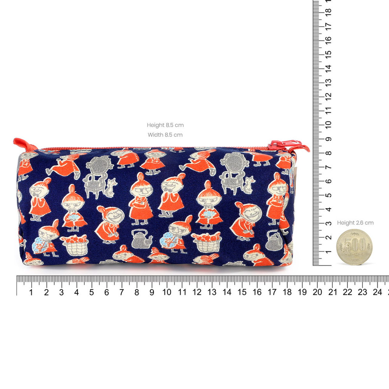 Moomin Canvas Barrel Pencil Case - Navy Blue ( Proportion )