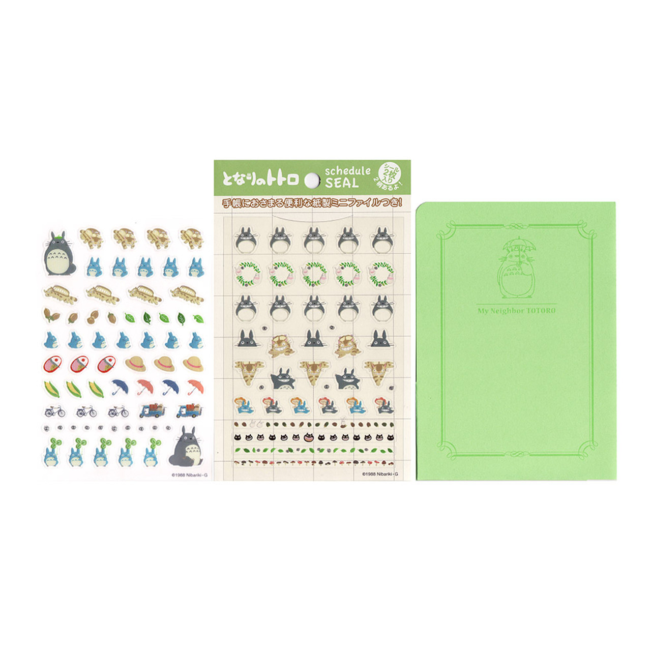 Totoro Schedule Seal 2 Style Sticker Sheet ( Full Set )