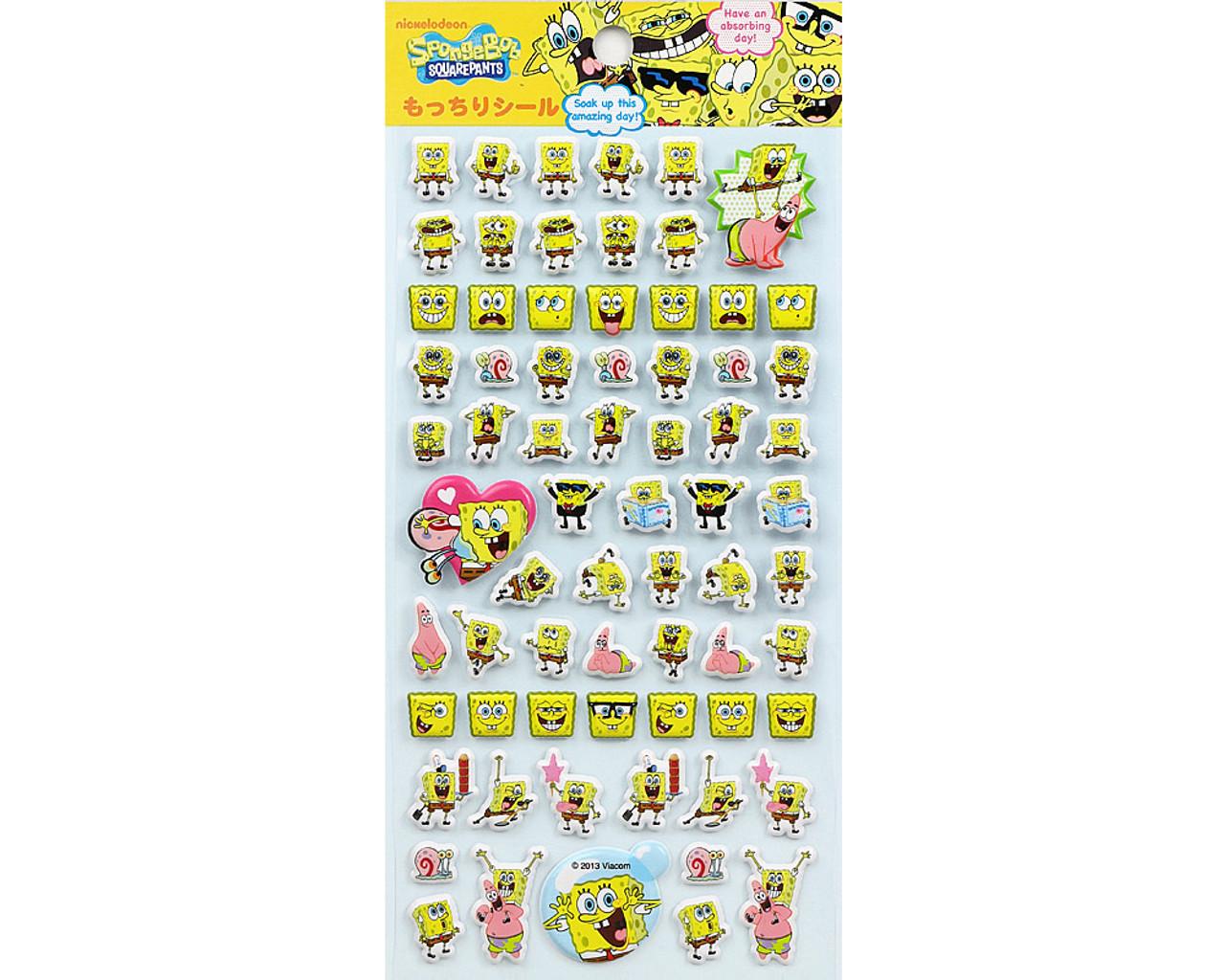 SpongeBob Happy Face Puffy Sticker 19890-13GAE ( Front View )