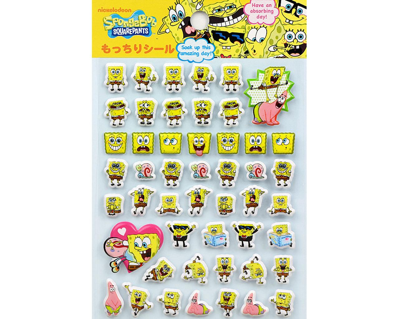 SpongeBob Happy Face Puffy Sticker 19890-13GAE ( Top Part )