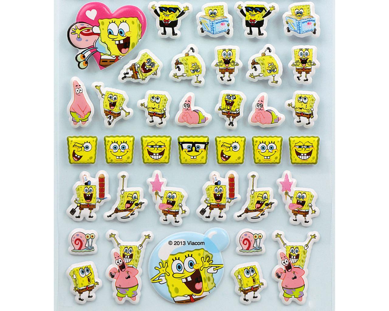 SpongeBob Happy Face Puffy Sticker 19890-13GAE ( Bottom Part )