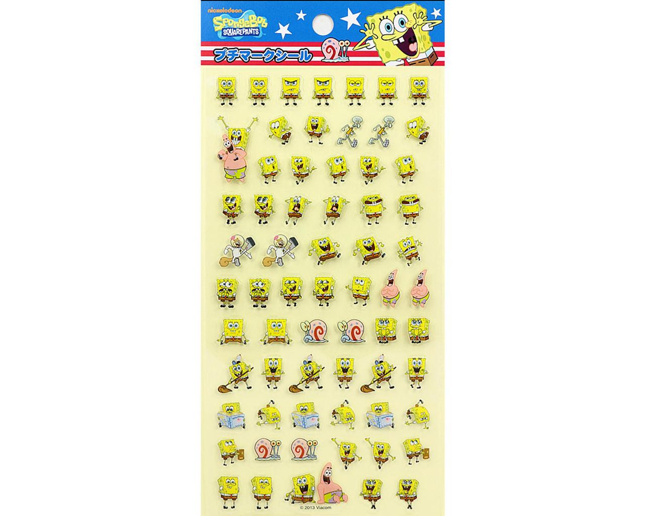 SpongeBob Happy Face PVC Sticker 19889-13GAT ( Front View )