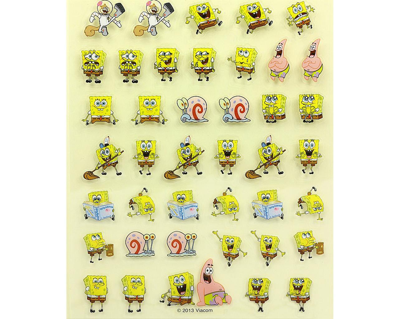 SpongeBob Happy Face PVC Sticker 19889-13GAT ( Bottom Part )